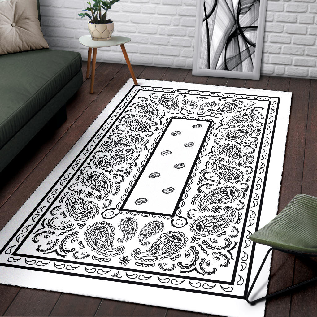 white bandana throw rugs
