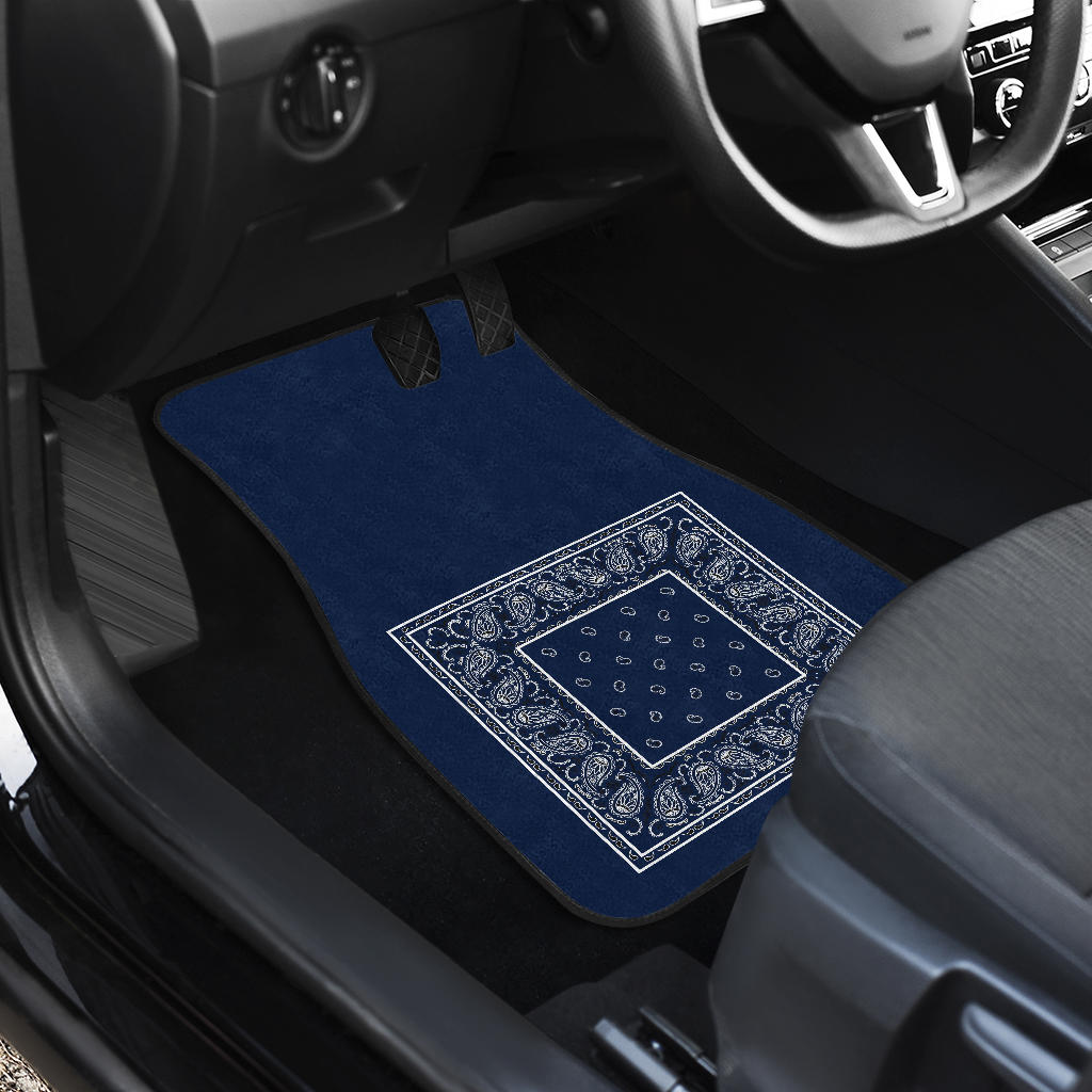 Quad Navy Blue Bandana Seat Covers - Minimal