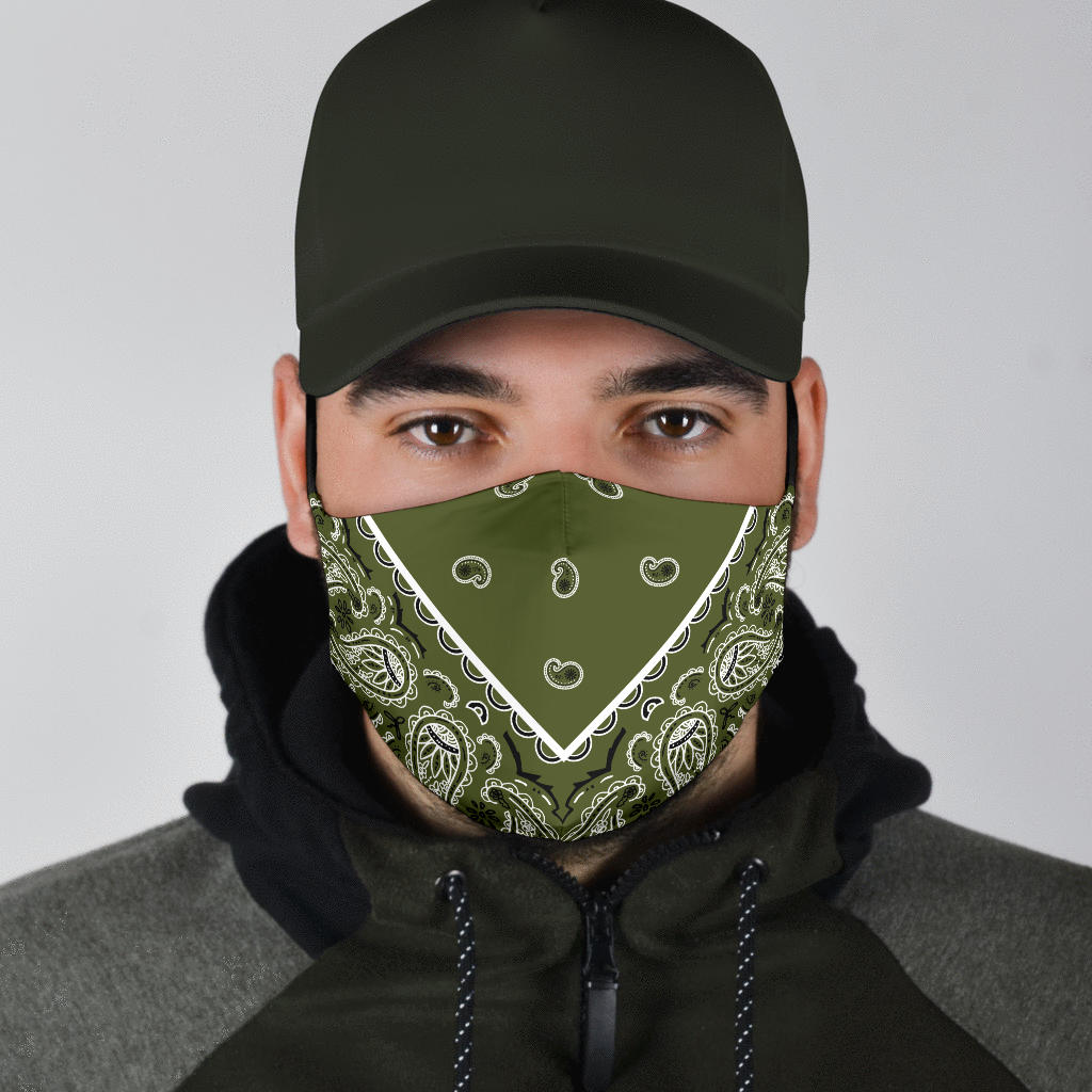 army green covid mask