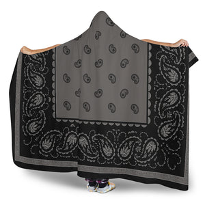 Ultimate Dark Gray and Black Hooded Blankets