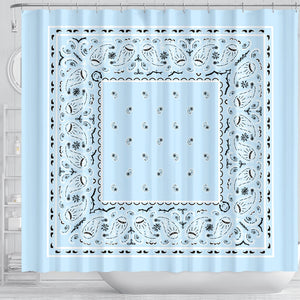 Light Blue Bandana Bathroom Decor