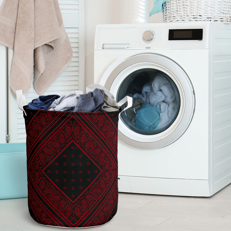 Black and Red Bandana Laundry Hamper