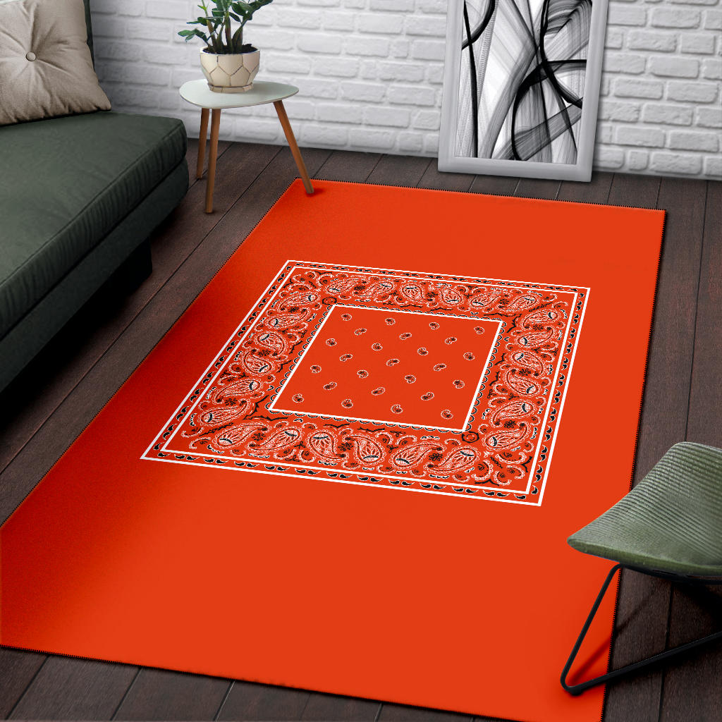 orange decorative rug