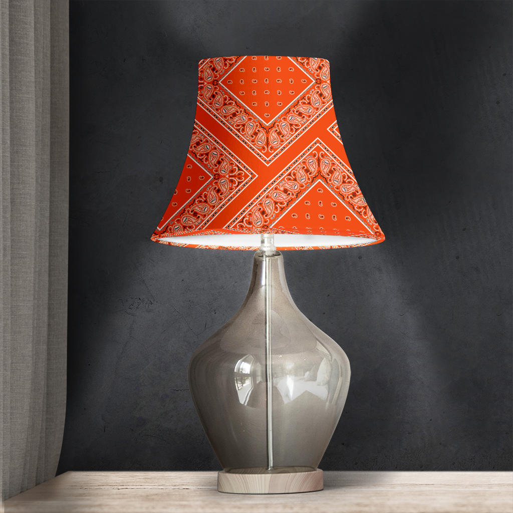 Orange Bandana Bell Lampshade