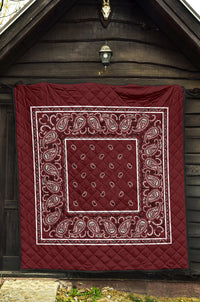 Burgundy Red Bandana Quilts