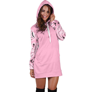 Light Pink Bandana Hoodie Dress front
