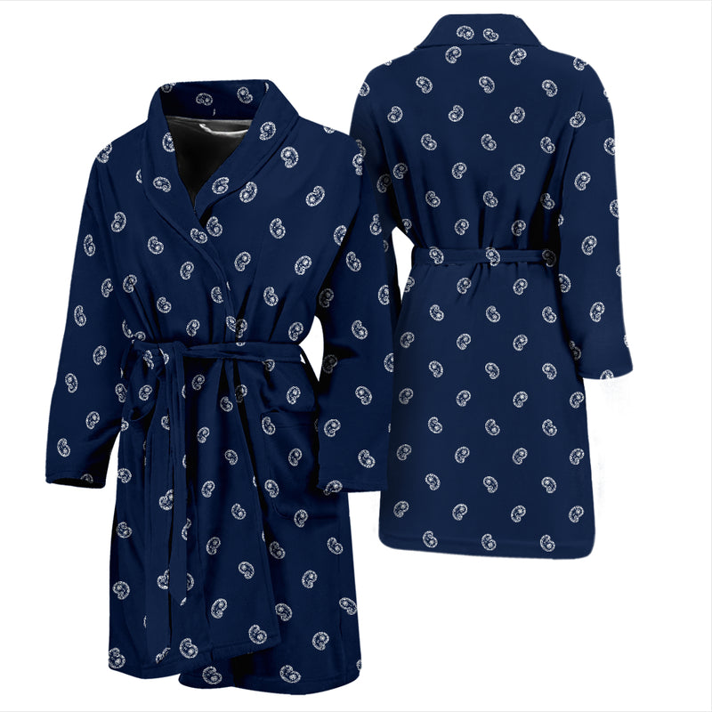 navy blue bandana men's bathrobe