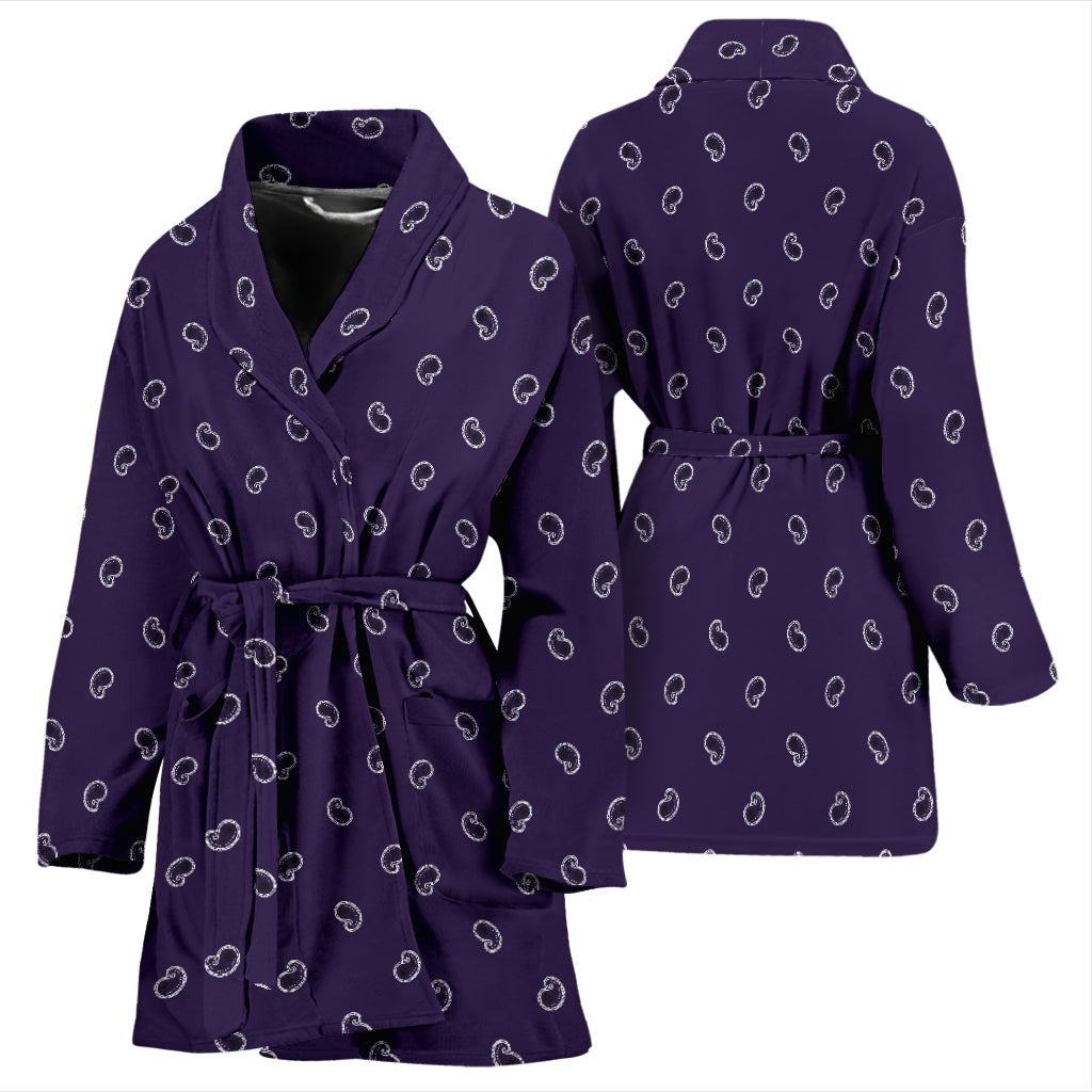 purple bandana robe for women