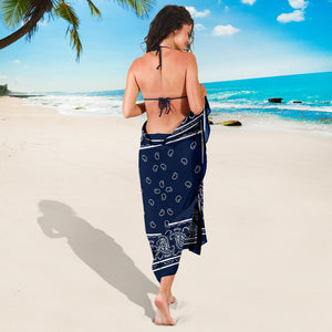 Dark blue beach coverups