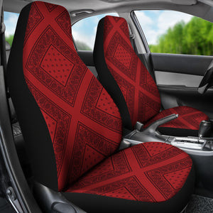 Red and black car seat covers
