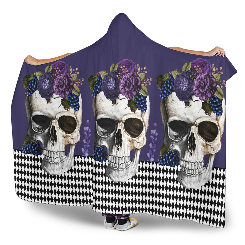 Ultimate Skulls on a Happy Day Hooded Blanket