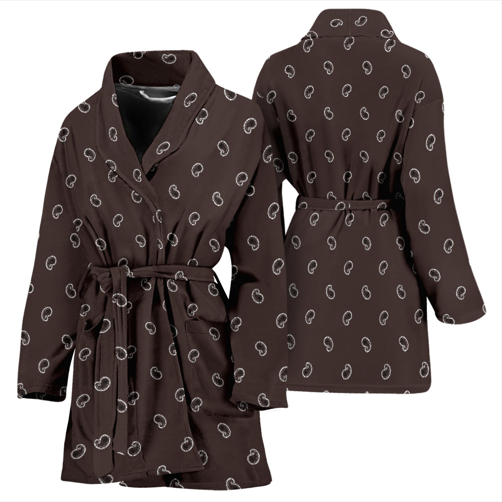 women's paisley robe