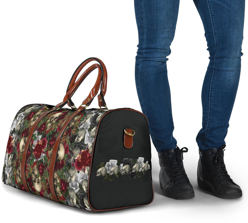 luggage with skulls