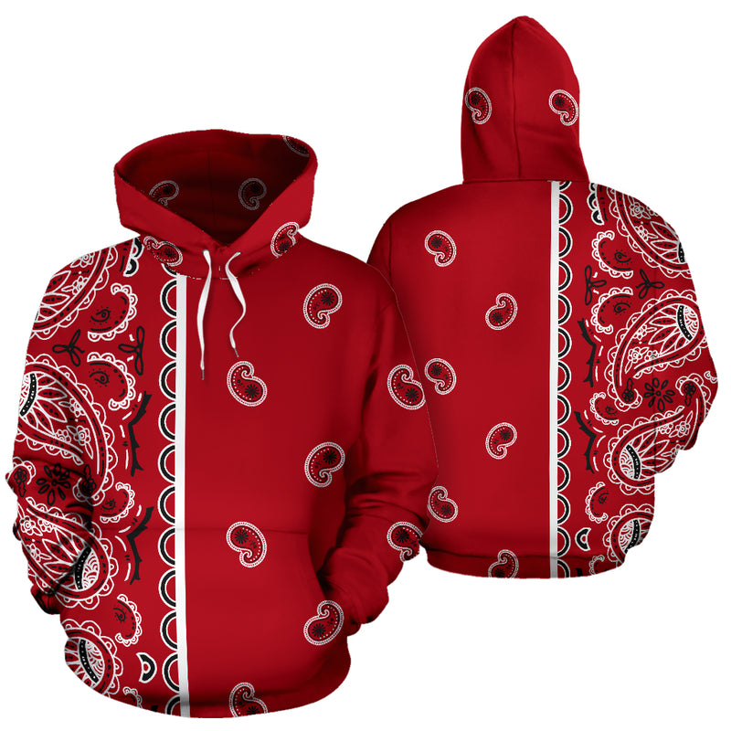 red bandana pullover hoodie
