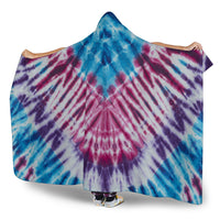 Ultimate Bohemian Blues Tie-Dye Hooded Blanket