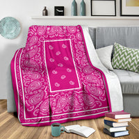 Ultra Plush Rich Pink Bandana Throw Blanket