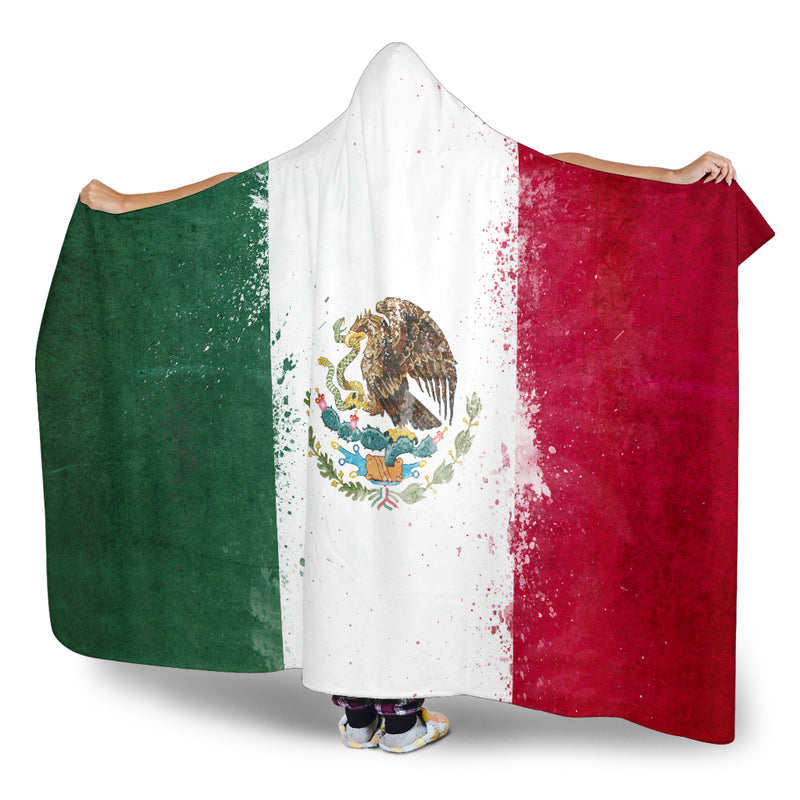 Mexico Flag Hooded Blankets