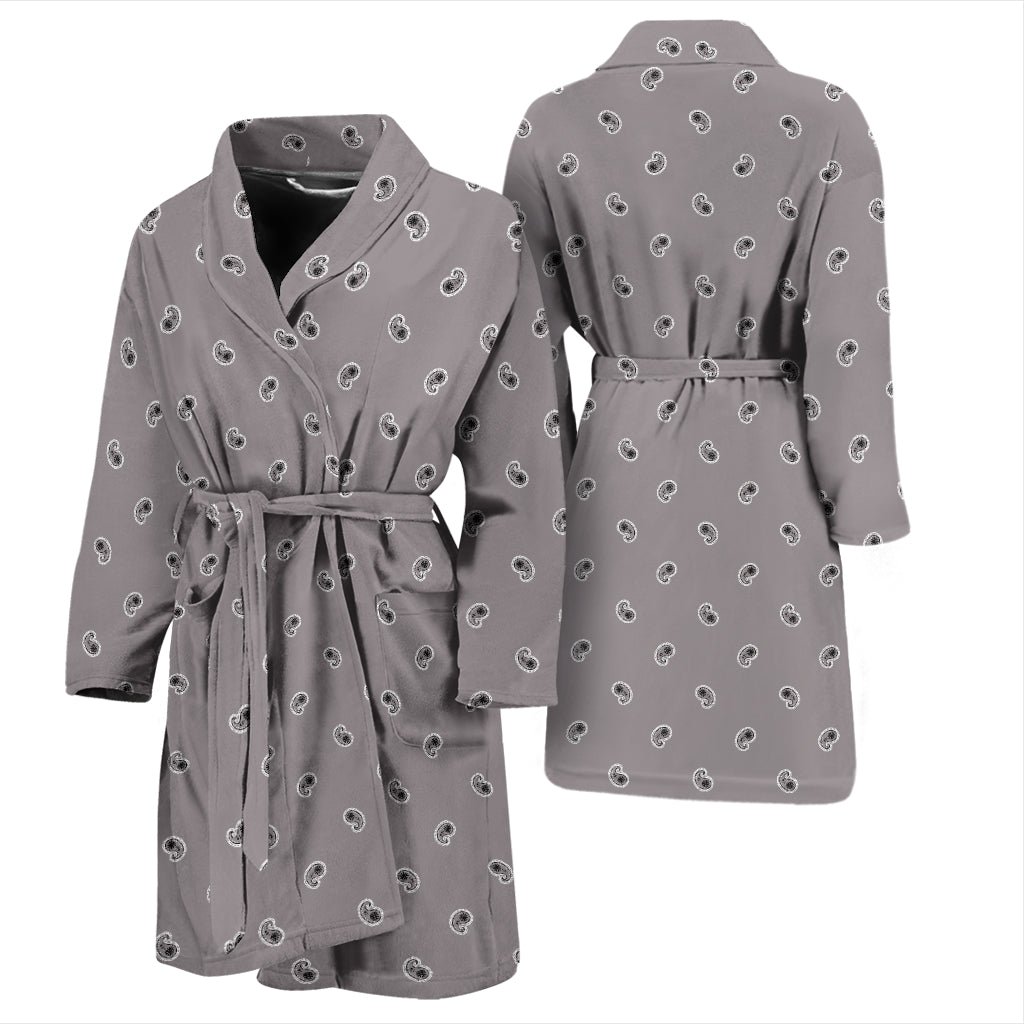 gray bathrobe for men