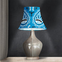 Blue Paisley Bell Lampshade