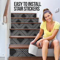 Black Bandana Stair Stickers 6 Steps
