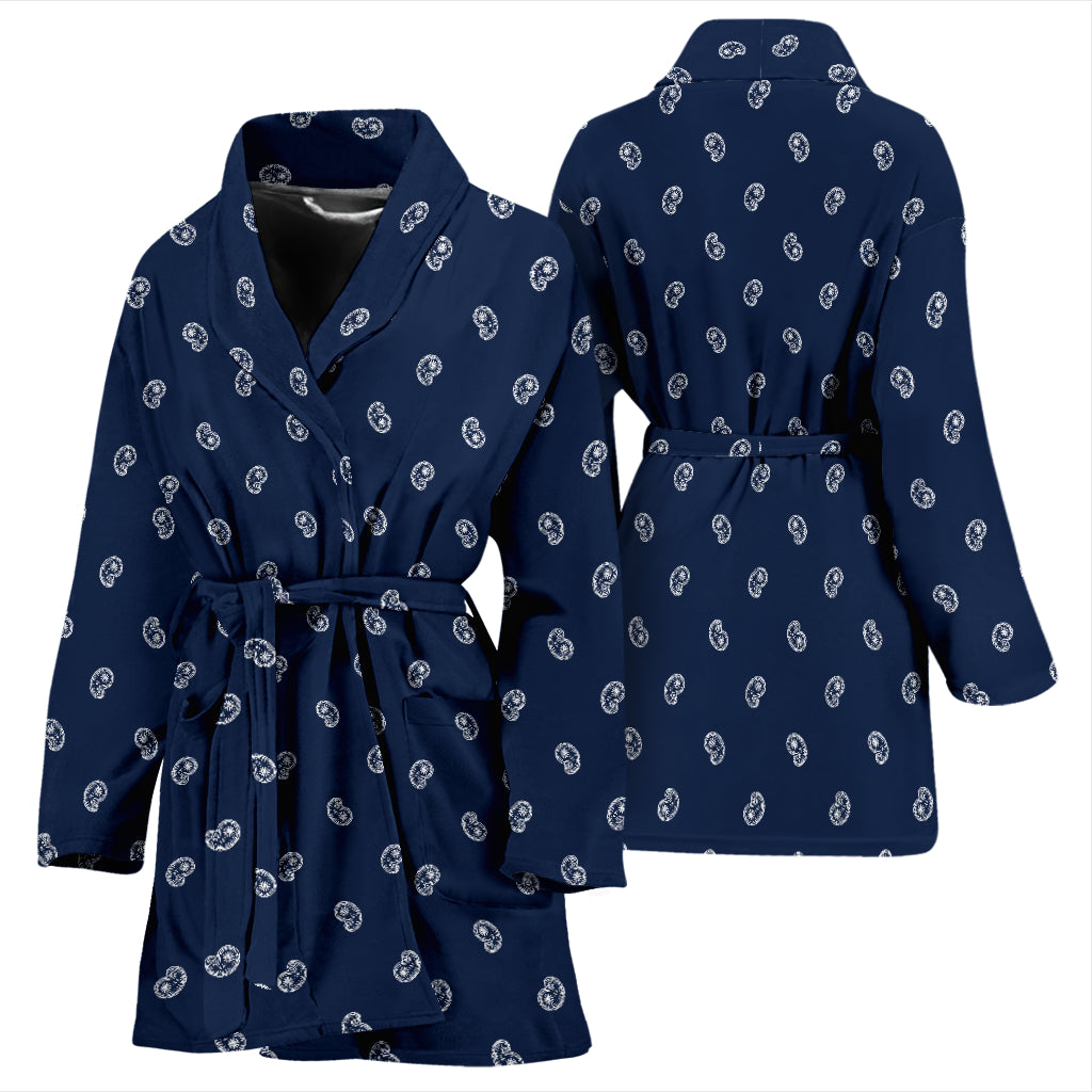 Navy Blue Bathrobe