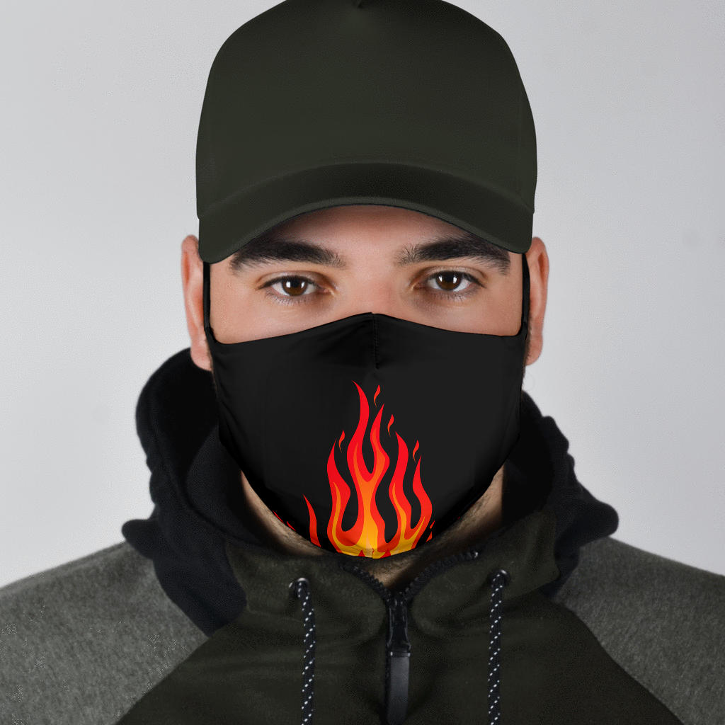 Adjustable Flame Bandana Face Mask