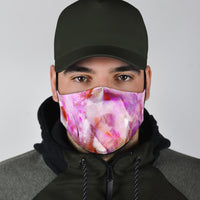Beautiful Abstract Flamingos Face Mask