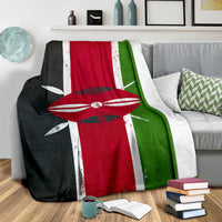 Kenyan Flag Fleece Throw Blankets
