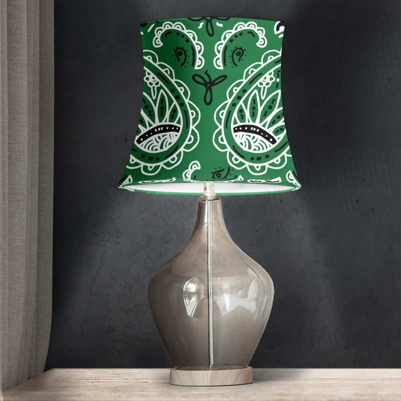 Classic Green Paisley Drum Lampshade