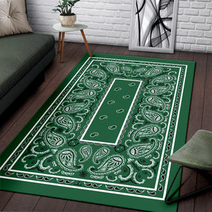 green throw rugs