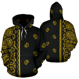 black gold bandana pullover hoodie