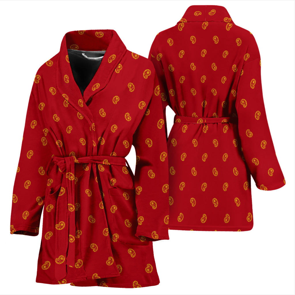 red and yellow bandana robe