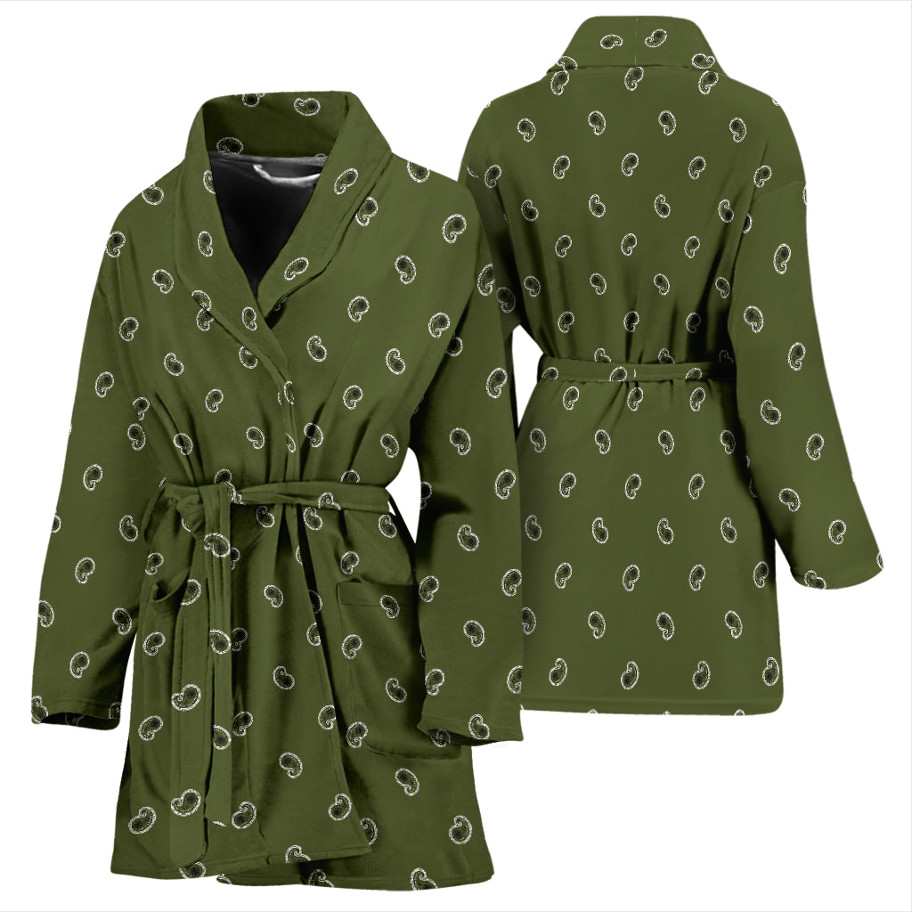green women's bathrobe