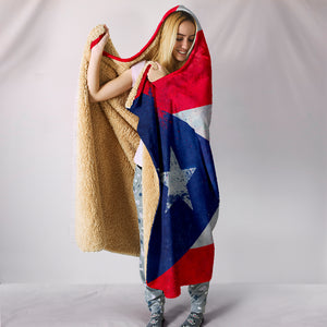 Puerto Rico Flag Hooded Blankets