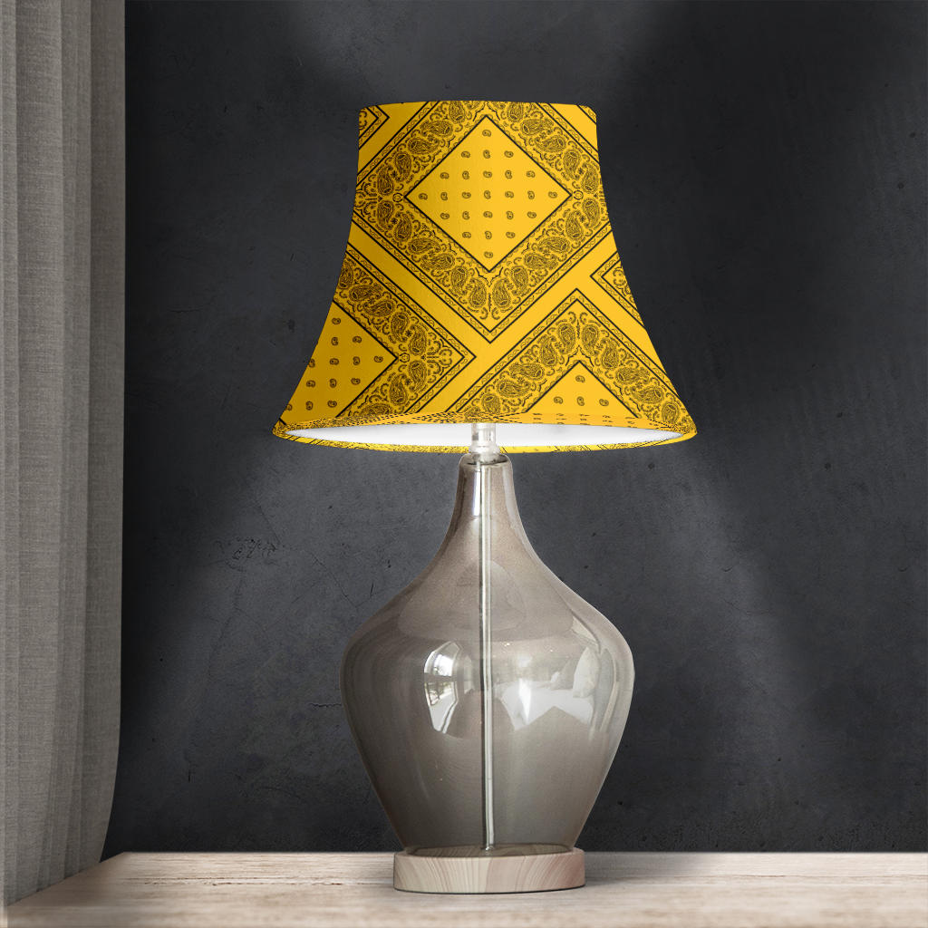 Gold and Black Bandana Bell Lampshade