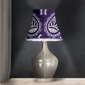 Purple Paisley Bell Lampshade