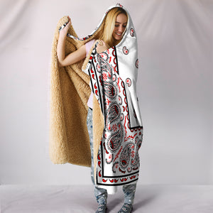 White Bandana Hooded Blanket front