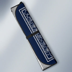 Navy Blue Bandana Car Window Shade