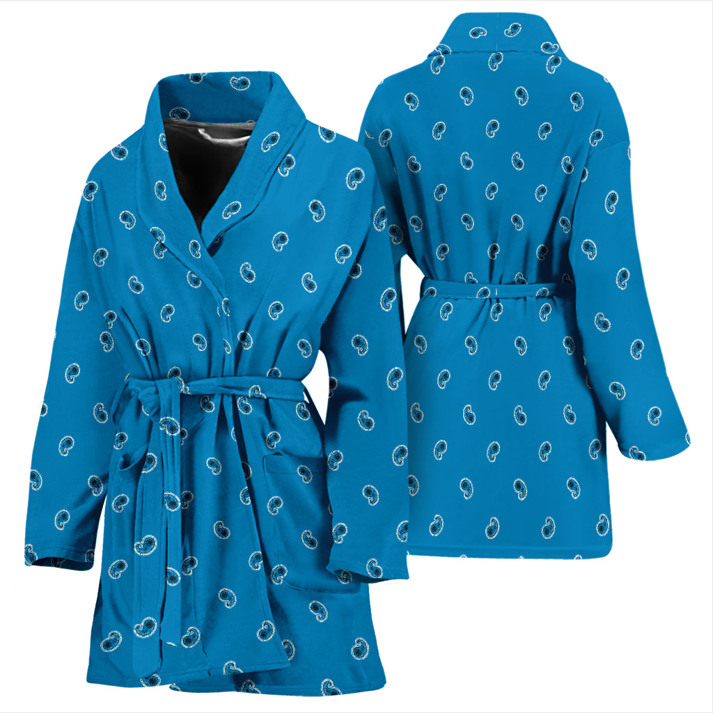 blue bathrobes for women