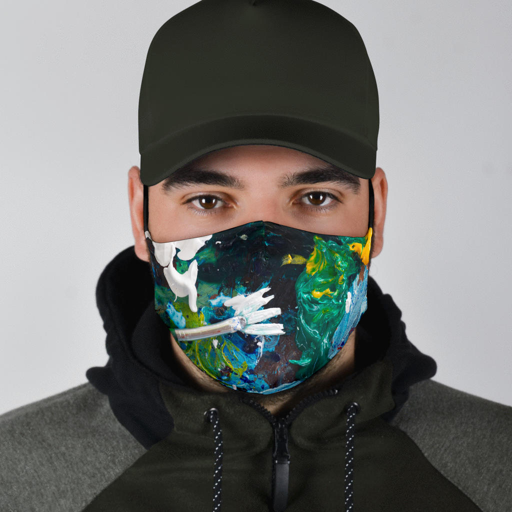 Adjustable Fun Artist's Face Mask with 5 Layer Filters