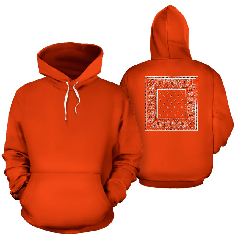orange bandana pullover hoodies