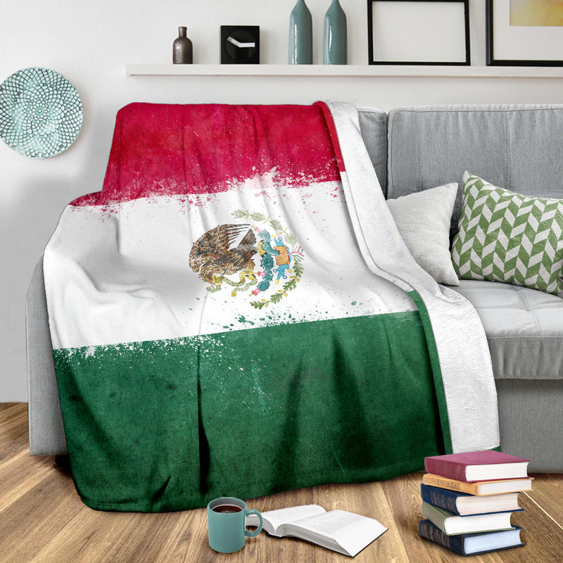 Mexico Flag Fleece Throw Blankets