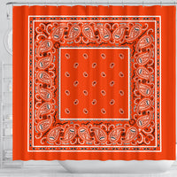 Orange Bandana Shower Curtain