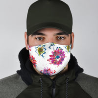 Abstract Floral Face Mask