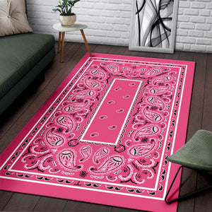 Warm Pink Bandana Area Rugs - Fitted