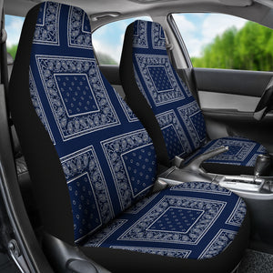 navy blue bucket seat covers
