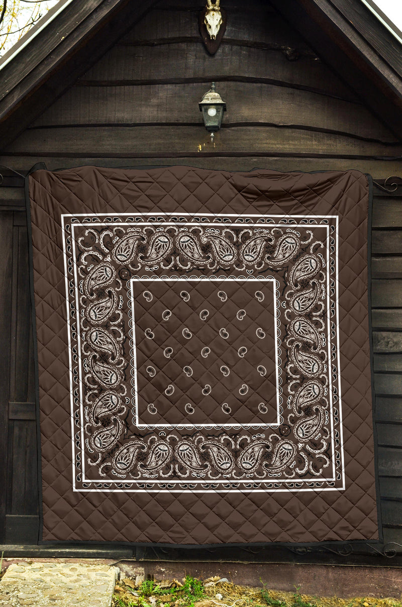 Brown Bandana Quilted blanket