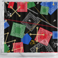 Abstract Bandanas Shower Curtains