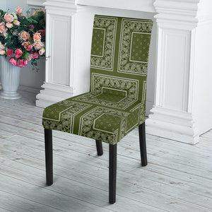 Army Green Bandana Dining Chair Covers - 4 Patterns