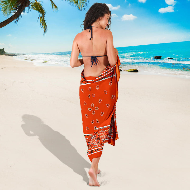 orange bandana beach coverup